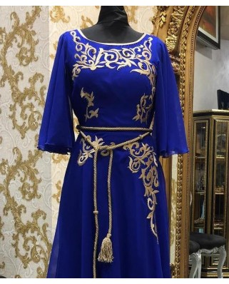 caftan bleu royal